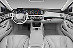 Stock photo of straight dashboard view of 2017 Mercedes Benz S-Class S550-PLUG-IN-HYBRID 4 Door Sedan Dashboard