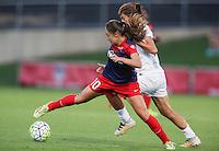 Boyds, MD - Saturday July 02, 2016:  Estefania Banini,  Mandy Laddish during a regular season National Women's Soccer League (NWSL) match between the Washington Spirit and FC Kansas City at Maureen Hendricks Field, Maryland SoccerPlex.