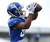 Sterling Shepard #87 of the New York Giants makes a catch during training camp at Quest Diagnostics Training Center in East Rutherford, NJ on Friday, Aug. 3, 2018.