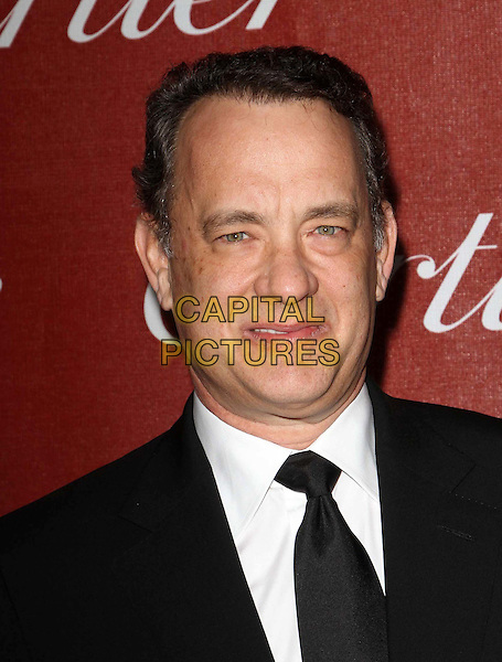 Tom Hanks .At The 23rd Annual Palm Springs International Film Festival Awards Gala Held At The Palm Springs Convention Center, Palm Springs, California, USA,.7th January 2012..arrivals portrait headshot  black suit tie white shirt .CAP/ADM/KB.©Kevan Brooks/AdMedia/Capital Pictures.