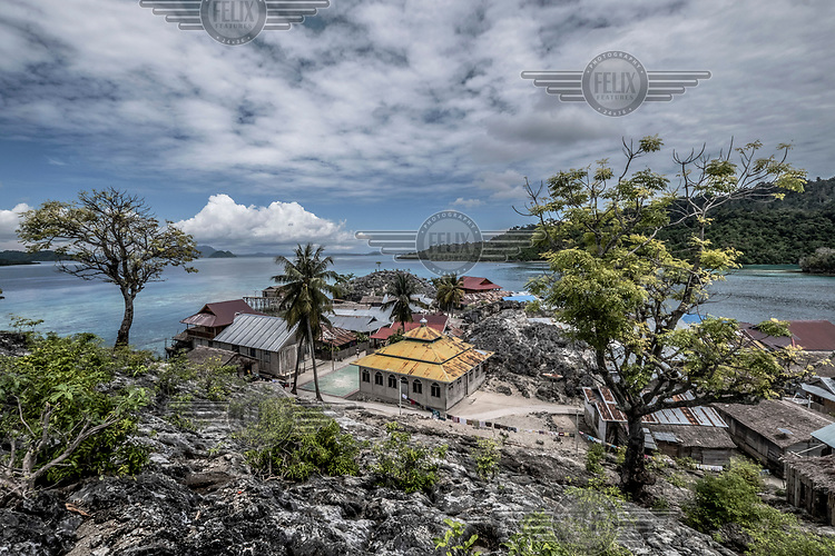 A mosque in the Bajau stilt village of Pulo Papan the Togean Islands.