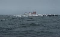 Grey seas and overcast skies greet Märket Island Light on a winter's day in the Sea of Åland.
