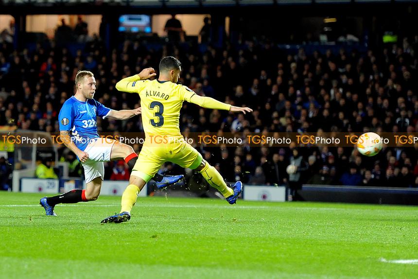 Scott Arfield of Rangers has a shot at goal during Rangers vs Villarreal CF, UEFA Europa League Football at Ibrox Stadium on 29th November 2018