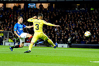 Scott Arfield of Rangers has a shot at goal during Rangers vs Villarreal CF, UEFA Europa League Football at Ibrox Stadium on 29th November 2018