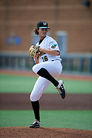 West Virginia Black Bears pitcher Matt Eardensohn (26) during a NY-Penn League game against the Batavia Muckdogs on August 29, 2019 at Monongalia County Ballpark in Morgantown, New York.  West Virginia defeated Batavia 5-4 in ten innings.  (Mike Janes/Four Seam Images)
