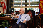 Washington, D.C. - April 6, 2004 -- United States Senator John McCain (Republican of Arizona) discusses his views on steroid use by professional athletes in an interview in his Capitol Hill office in Washington, D.C. on April 6, 2004.  The Senator, who is an avid sports fan, is concerned about the use of performance enhancing drugs by college and professional athletes..Credit: Ron Sachs / CNP.(RESTRICTION: NO New York or New Jersey Newspapers or newspapers within a 75 mile radius of New York City).