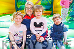Enjoying the Bouncy castle the Kilflynn Vintage Rally on Sunday. <br /> L to r: Roisin Diggins, Mary and Keeva Kelliher and Colm Kearney (Ardfert).
