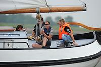 ZEILEN: LEMMER: Lemsterbaai, 08-08-2014, IFKS Skûtsjesilen, Schipper Wytse Heerschop skûtsje 'De Woeste Oane' C Klasse, ©foto Martin de Jong
