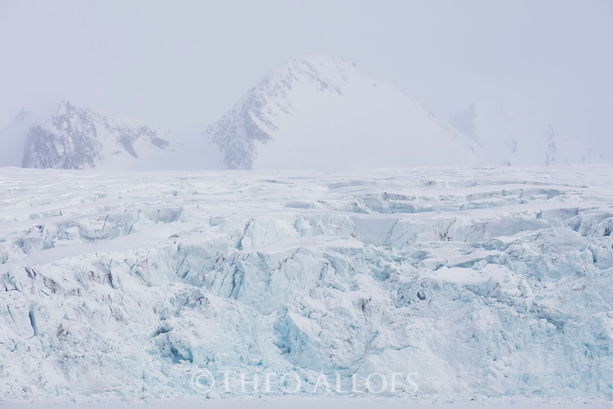 Norway, Svalbard, mountains and glaciers in late spring