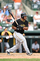 Third baseman Pedro Alvarez (24) of the Pittsburgh Pirates during a spring training game against the Baltimore Orioles on March 23, 2014 at McKechnie Field in Bradenton, Florida.  Baltimore and Pittsburgh played to a 7-7 tie.  (Mike Janes/Four Seam Images)