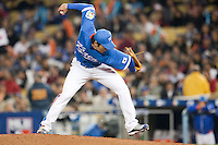 21 March 2009: #21 Taehyon Chong of Korea pitches against Venezuela during the 2009 World Baseball Classic semifinal game at Dodger Stadium in Los Angeles, California, USA. Korea wins 10-2 over Venezuela.