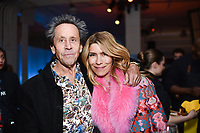 NEW YORK CITY - APRIL 20: Veronica Grazer and Brian Grazer, Executive Producer attends the National Geographic GENIUS: PICASSO Tribeca Film Festival after party at The Genius Studio, 100 Avenue of the Americas, in New York City on April 20, 2018 in New York City.  The Genius: Studio is an interactive installation designed to inspire people to create their own masterpieces. (Photo by Anthony Behar/National Geographic/PictureGroup)