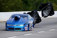 May 16, 2015; Commerce, GA, USA; NHRA pro stock driver Bo Butner during qualifying for the Southern Nationals at Atlanta Dragway. Mandatory Credit: Mark J. Rebilas-USA TODAY Sports