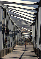 Footbridge, Port Forum, Sant Adrià del Besos, Barcelona, Catalonia, Spain; 2003; Mamen Domingo and Ernest Ferré Architects Picture by Manuel Cohen