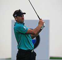 Ian Poulter (ENG) tees off the 2nd tee during Thursday's Round 1 of the 2014 BMW Masters held at Lake Malaren, Shanghai, China 30th October 2014.<br /> Picture: Eoin Clarke www.golffile.ie