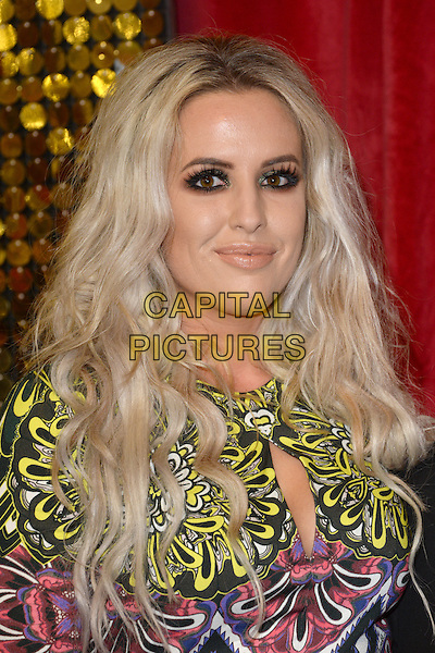 LONDON, ENGLAND - MAY 28: Rebecca Chittell attends the British Soap Awards 2016 at Hackney Town Hall on May 28, 2016 in London, England.<br /> CAP/BEL<br /> &copy;BEL/Capital Pictures