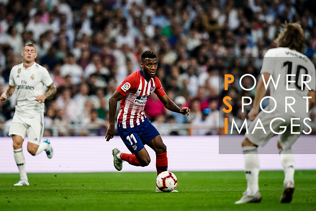 Thomas Lemar of Atletico de Madrid in action during their La Liga  2018-19 match between Real Madrid CF and Atletico de Madrid at Santiago Bernabeu on September 29 2018 in Madrid, Spain. Photo by Diego Souto / Power Sport Images