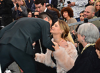 Adam Levine &amp; Behati Prinsloo at the Hollywood Walk of Fame Star Ceremony honoring singer Adam Levine. Los Angeles, USA 10 February  2017<br /> Picture: Paul Smith/Featureflash/SilverHub 0208 004 5359 sales@silverhubmedia.com