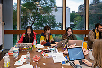 Occidental College students study for finals and write papers during finals week in the Academic Commons/Mary Norton Clapp Library, Monday afternoon, Dec. 10, 2018.<br /> (Photo by Marc Campos, Occidental College Photographer)