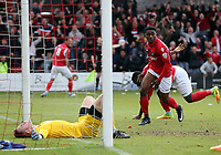 Darren McQueen of Ebbsfleet United celebrates scoring the second goal during Ebbsfleet United vs Chelmsford City, Vanarama National League South Play-Off Final Football at The PHB Stadium on 13th May 2017