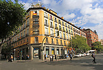 Historic apartment housing in Malasana,  Madrid city centre, Spain