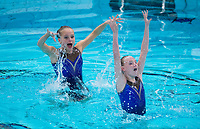 Picture by Allan McKenzie/SWpix.com - 25/11/2017 - Swimming - Swim England Synchronised Swimming National Age Group Championships 2017 - GL1 Leisure Centre, Gloucester, England - Alicia Cox & Libby Taylor.