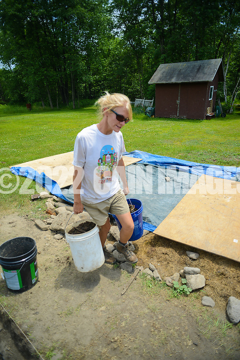 HAZLETON, PA - JUNE 30:  Camille Westmont works at the site of an archaeologic dig June 30, 2014 in Hazleton, Pennsylvania. The team is looking through sites connected with the Lattimer Massacre which occurred in 1897. (Photo by William Thomas Cain/Cain Images)