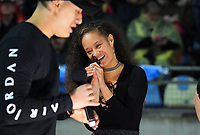 Pre-match entertainment by Maimoa Music during the Rugby Championship match between the NZ All Blacks and Argentina Pumas at Yarrow Stadium in New Plymouth, New Zealand on Saturday, 9 September 2017. Photo: Dave Lintott / lintottphoto.co.nz