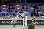 Bertram Allen on Hector van d'Abdijhoeve competes during the Airbus Trophy at the Longines Masters of Hong Kong on 20 February 2016 at the Asia World Expo in Hong Kong, China. Photo by Victor Fraile / Power Sport Images