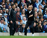 Josep Guardiola manager of Manchester City during the premier league match at the Etihad Stadium, Manchester. Picture date 22nd September 2017. Picture credit should read: Simon Bellis/Sportimage