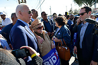 Las Vegas, NV - FEBRUARY 15: Joe Biden stumps  at Doolittle Community Center ahead of for the first day of early voting in North Las Vegas, Nevada on February 15, 2020.    <br /> CAP/MPI/DAM<br /> ©DAM/MPI/Capital Pictures