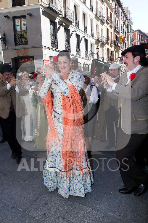 "15.05.2012. Representation of the Zarzuela ""La Revoltosa"" at the Teatro Arenal where chulapas chulapos and mix with Madrileños on the day of San Isidro. This is one of the masterpieces of the genre starring Asier Sánchez, Inés Olabarría, Estrella Blanco, Luis Ángel Gago, Adolfo Pastor, Juan Carlos Barona, Marta Caamaño, Didier Otaola, Sonia Cruzo and José Luis Gago. (Alterphotos/Marta Gonzalez)"