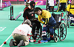 Marco Dispaltro competes in  Boccia at the 2019 ParaPan American Games in Lima, Peru-1aug2019-Photo Scott Grant