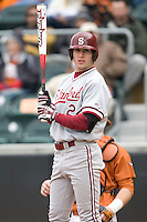 Jake Stewart of the Stanford Cardinal against the Texas Longhorns at  UFCU Disch-Falk Field in Austin, Texas on Friday February 26th, 2100.  (Photo by Andrew Woolley / Four Seam Images)