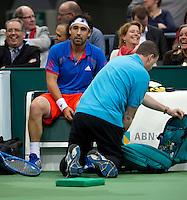16-02-12, Netherlands,Tennis, Rotterdam, ABNAMRO WTT, Marcos Baghdatis injured