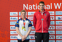 Picture by Allan McKenzie/SWpix.com - 17/12/2017 - Swimming - Swim England Nationals - Swim England National Championships - Ponds Forge International Sports Centre, Sheffield, England - Robert Fannon and David Cumberlidge with silver in the mens 50m freestyle.