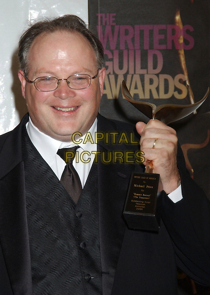MICHAEL PRICE.2006 Writers Guild Awards held at The Hollywood .Palladium, Hollywood, California, USA..February 4th, 2006.Photo: Laura Farr/AdMedia/Capital Pictures.Ref: LF/ADM.headshot portrait glasses award trophy.www.capitalpictures.com.sales@capitalpictures.com.© Capital Pictures.