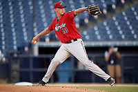 Fort Myers Miracle starting pitcher Tyler Wells (40) delivers a pitch during a game against the Tampa Tarpons on May 2, 2018 at George M. Steinbrenner Field in Tampa, Florida.  Fort Myers defeated Tampa 5-0.  (Mike Janes/Four Seam Images)