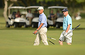 United States President Barack Obama and Prime Minister John Key of New Zealand  approach the 2nd green while playing golf at the Marine Corps Base Hawaii's Kaneohe Klipper Golf Course, Kaneohe, Hawaii, January 2, 2014. <br /> Credit: Cory Lum / Pool via CNP