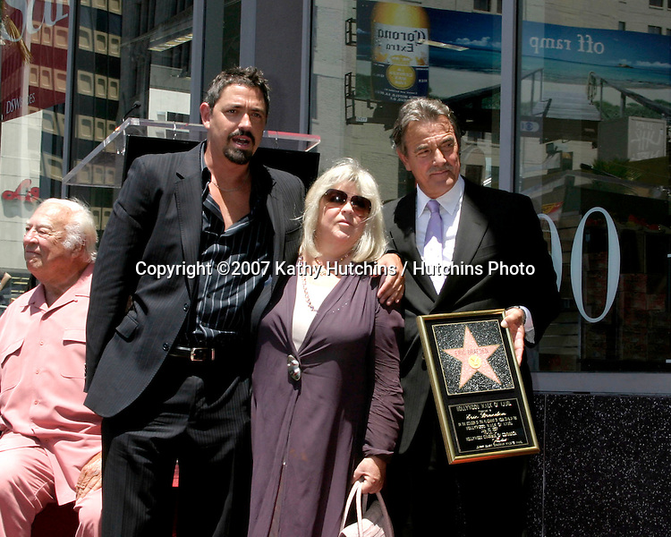 Christian Gudegast & his parents Dale &  Eric Braeden.Eric Braeden receives a star on the .Hollywood Walk of Fame.Los Angeles, CA.July 20, 2007.©2007 Kathy Hutchins / Hutchins Photo....