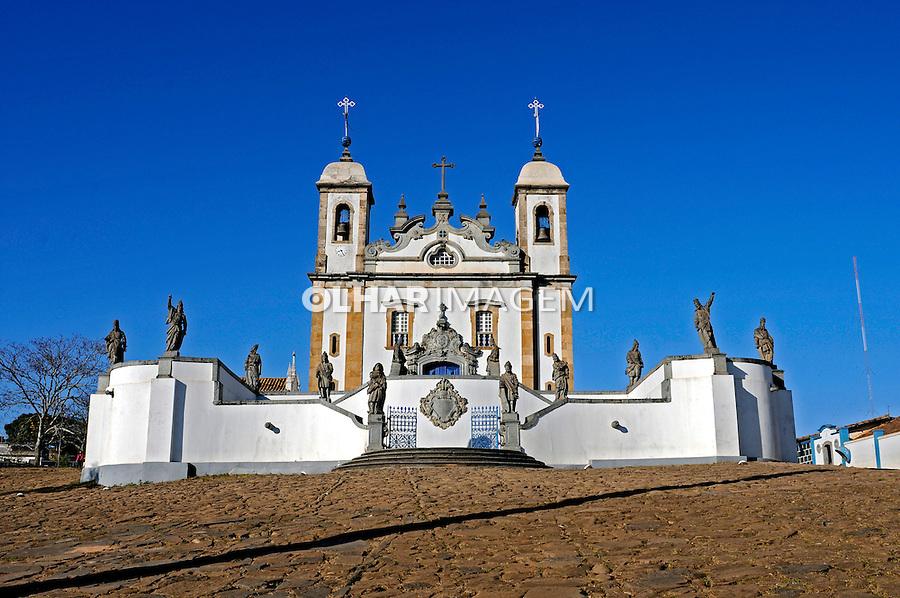 Basílica de Matosinhos e profetas de Aleijadinho. Congonhas do Campo. Minas Gerais. 2008. Foto de Ricardo Azoury