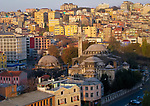 Morning view of buildings in Istanbul, Turkey.
