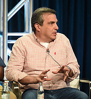 """BEVERLY HILLS - AUGUST 1: Executive Producer Mike Schiff onstage during the """"The Unicorn"""" panel at the CBS portion of the Summer 2019 TCA Press Tour at the Beverly Hilton on August 1, 2019 in Los Angeles, California. (Photo by Frank Micelotta/PictureGroup)"""