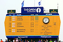 the scoreboard on the 18th green during the final round of the 143rd Open Championship played at Royal Liverpool Golf Club, Hoylake, Wirral, England. 17 - 20 July 2014 (Picture Credit / Phil Inglis)