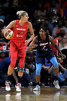 Washington, DC - June 1, 2019: Washington Mystics forward Elena Delle Donne (11) handles the ball during game between Atlanta Dream and Washington Mystics at the St. Elizabeths East Entertainment and Sports Arena (Photo by Phil Peters/Media Images International)