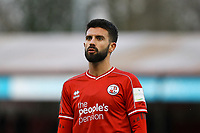George Francomb of Crawley Town during Crawley Town vs Fleetwood Town, Emirates FA Cup Football at Broadfield Stadium on 1st December 2019