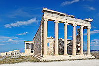 The Erechtheion (421 B.C.) on the Athenian Acropolis, Greece