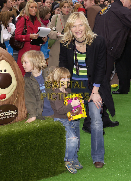 "JO WHILEY & CHILDREN.UK film premiere of ""The Magic Roundabout"", Vue Cinema, Leicester Square, London, January 30th 2004..full length kids family daughter son.Ref: DH.www.capitalpictures.com.sales@capitalpictures.com.©David Hitchens/Capital Pictures ."