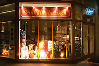 The shop window of the Vinkallarbutiken the Wine Cellar Shop Stockholm, Sweden, Sverige, Europe