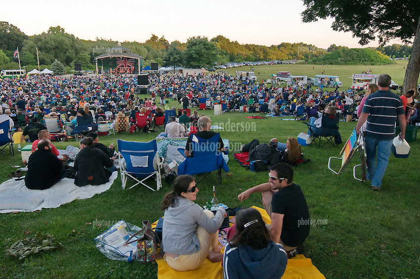 Hamden Free Summer Concert Series Field & Audience View